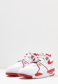 Nike Sportswear - AIR FLIGHT 89 - Korkeavartiset tennarit - white/university red - 2