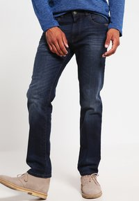 camel active - HOUSTON - Straight leg jeans - dark blue demin - 0