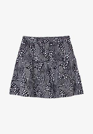 A-line skirt - dark blue aop