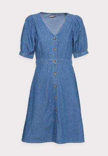 CHAMBREAY SHIRT DRESS