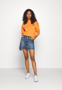 Tommy Jeans - TOMMY BADGE CREW - Bluza - rustic orange - 1
