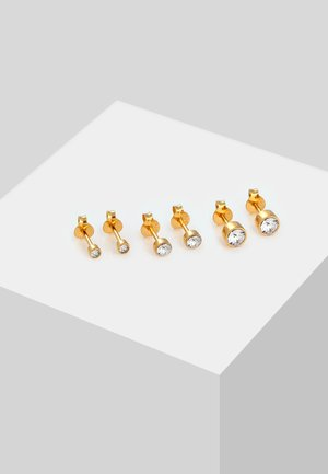 SET  - Earrings - gold colored