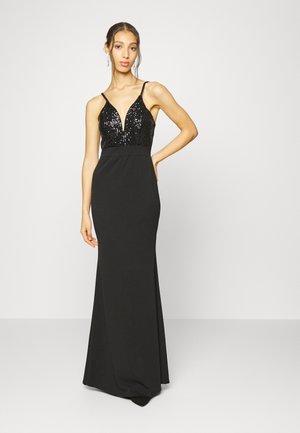 TAZMIN SEQUIN MAXI DRESS - Společenské šaty - black