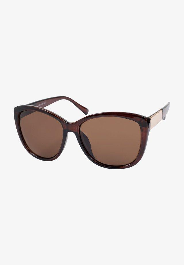 Sunglasses - gestell braun-gold / glas braun getönt