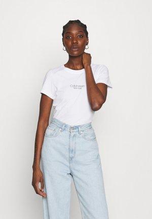 SLIM FIT 2 PACK - T-shirt imprimé - black/bright white