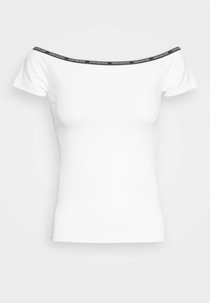 LOGO TRIM BARDOT - Print T-shirt - bright white