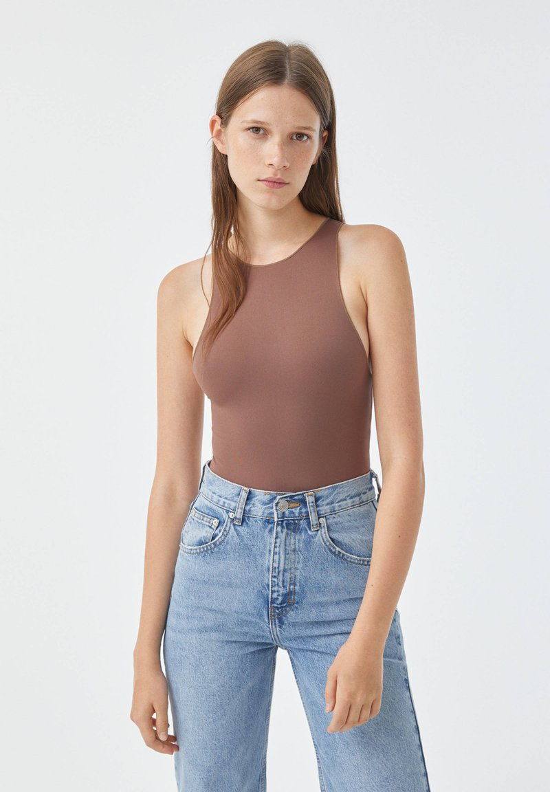 PULL&BEAR - Top - brown