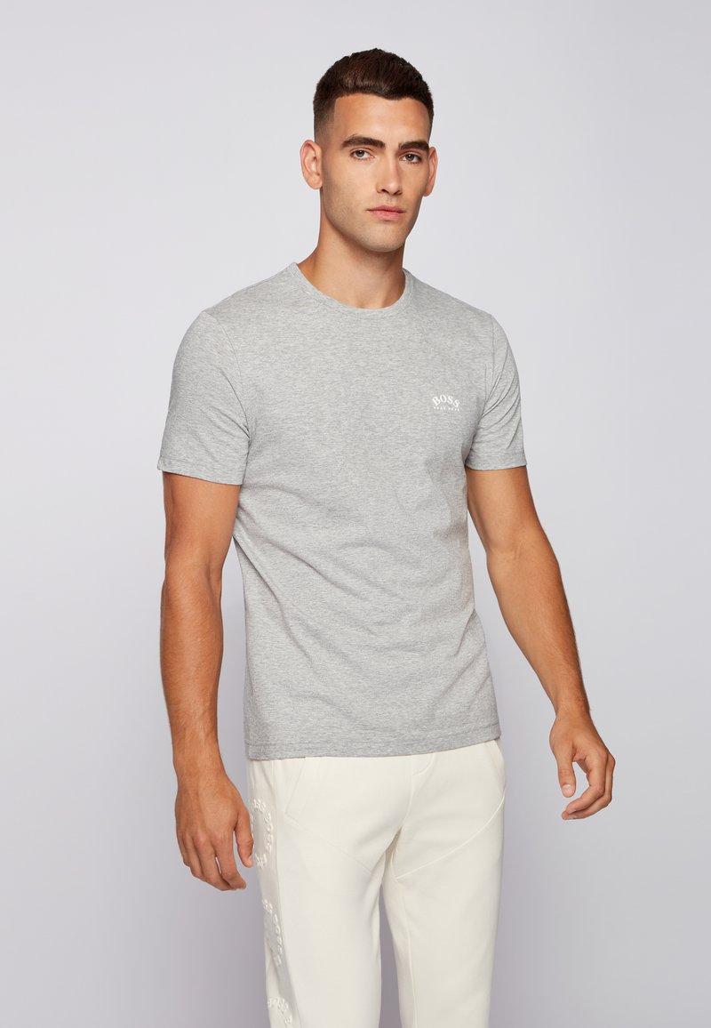 BOSS - TEE CURVED - Basic T-shirt - grau