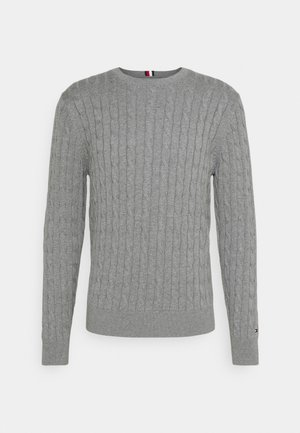 CLASSIC CABLE CREW NECK - Džemper - medium grey heather