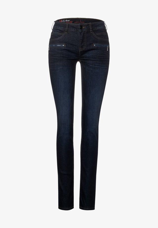 MIT ZIPPER-DEKO - Jeans Skinny Fit - blau