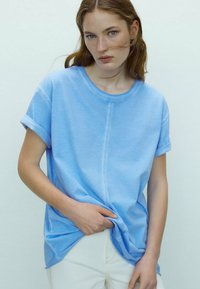 Massimo Dutti - Basic T-shirt - blue - 2