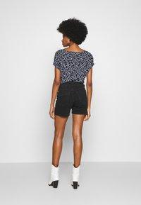 TOM TAILOR DENIM - CAJSA - Denim shorts - used dark stone black denim - 2