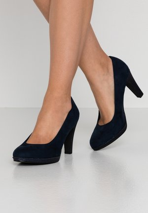 COURT SHOE - Højhælede pumps - navy