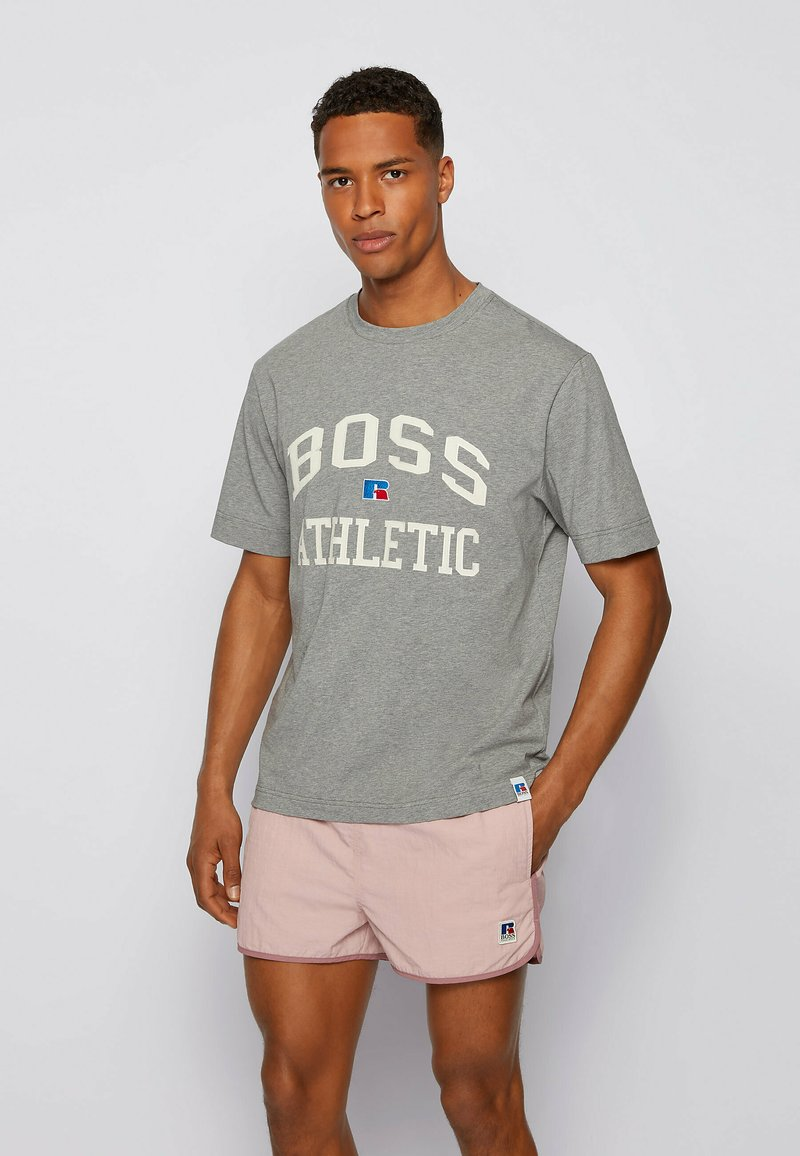 BOSS - Print T-shirt - grey