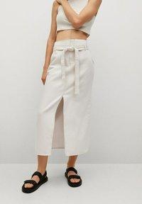 Mango - LIVE - A-line skirt - écru - 0