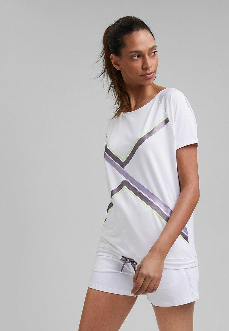 Esprit Sports - Print T-shirt - white