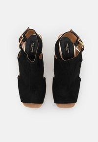 River Island Wide Fit - Platform sandals - black - 5