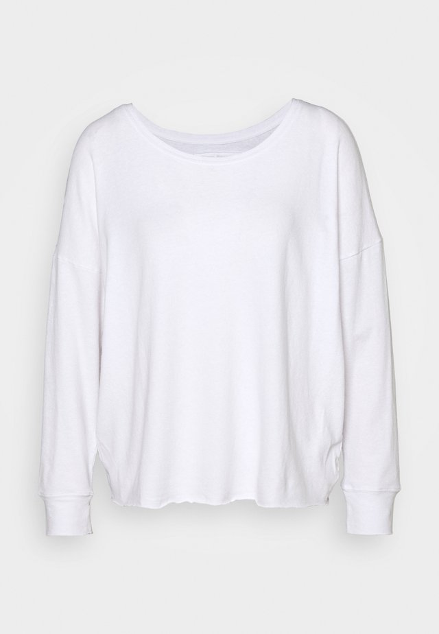 CREW RELAX SUSTAINABLE - Long sleeved top - white