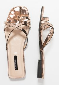 Lost Ink - TOE POST STRAPPY  - Sandaler m/ tåsplit - rose gold - 2