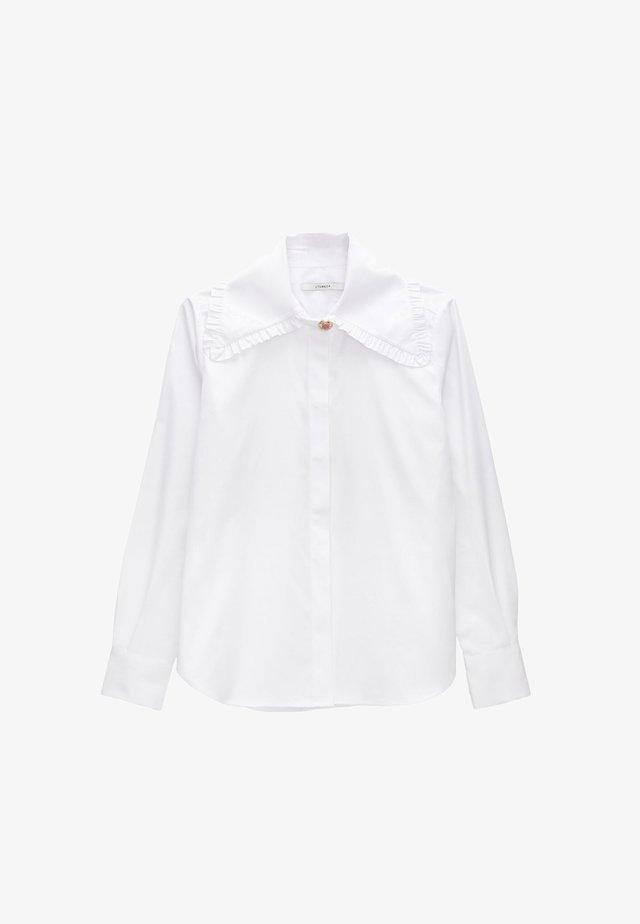 MIT BUBIKRAGEN - Overhemdblouse - white