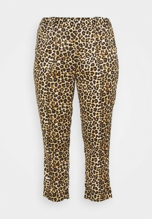 LEOPARD PRINT - Kalhoty - brown
