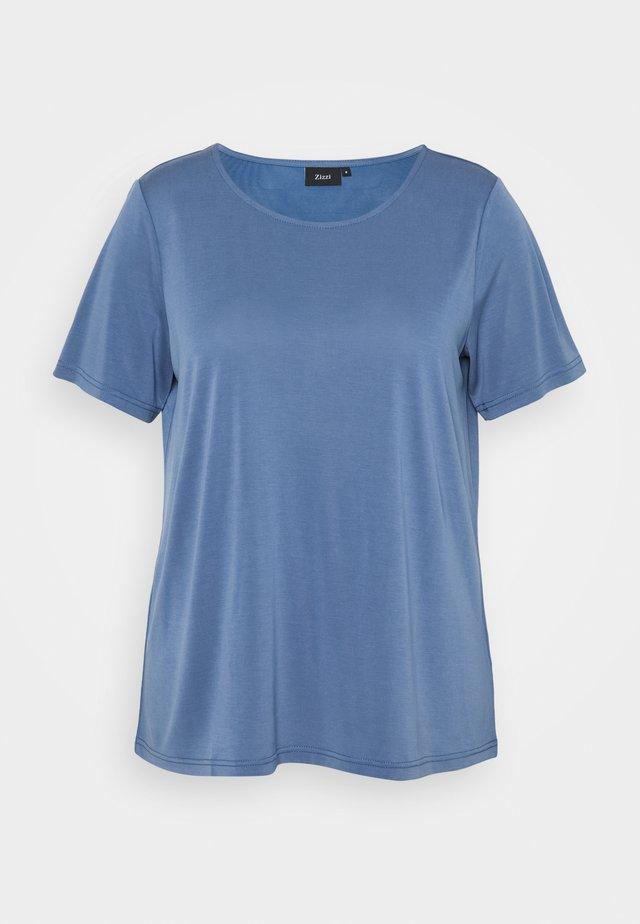 XFRITTI - Basic T-shirt - bijou blue