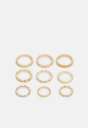 PCKAROLINE 9 PACK - Ringar - gold-coloured