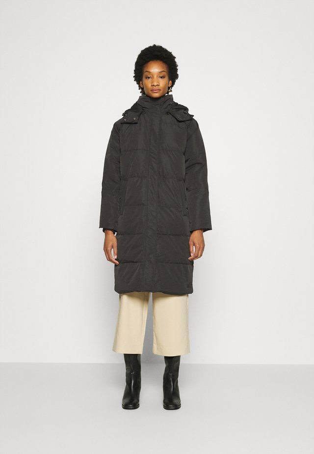 SKYLAR HOOD JACKET - Down coat - black