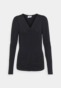 Vero Moda Tall - VMNEXT 3/4  V NECK - Long sleeved top - black - 0