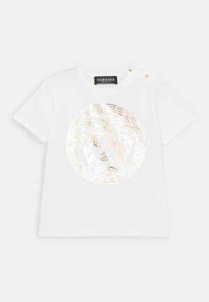SHORT SLEEVES MEDUSA UNISEX - Print T-shirt - white/gold