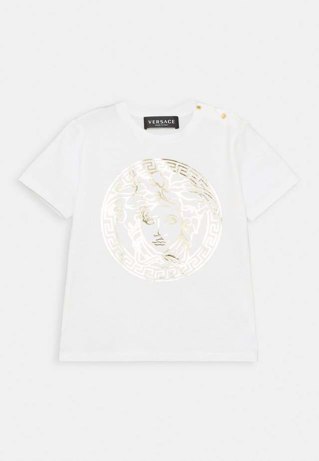 SHORT SLEEVES MEDUSA UNISEX - T-shirt print - white/gold