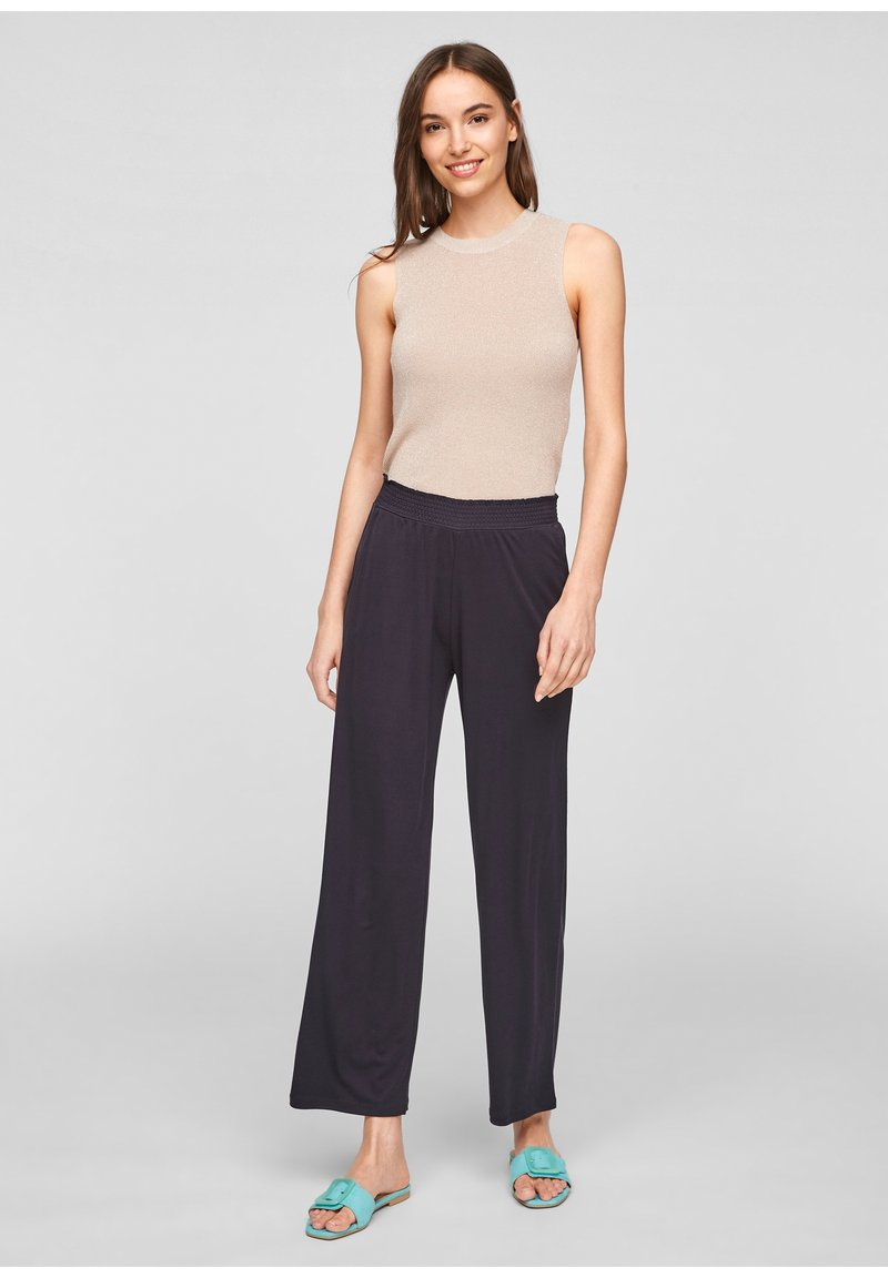 comma - Trousers - navy