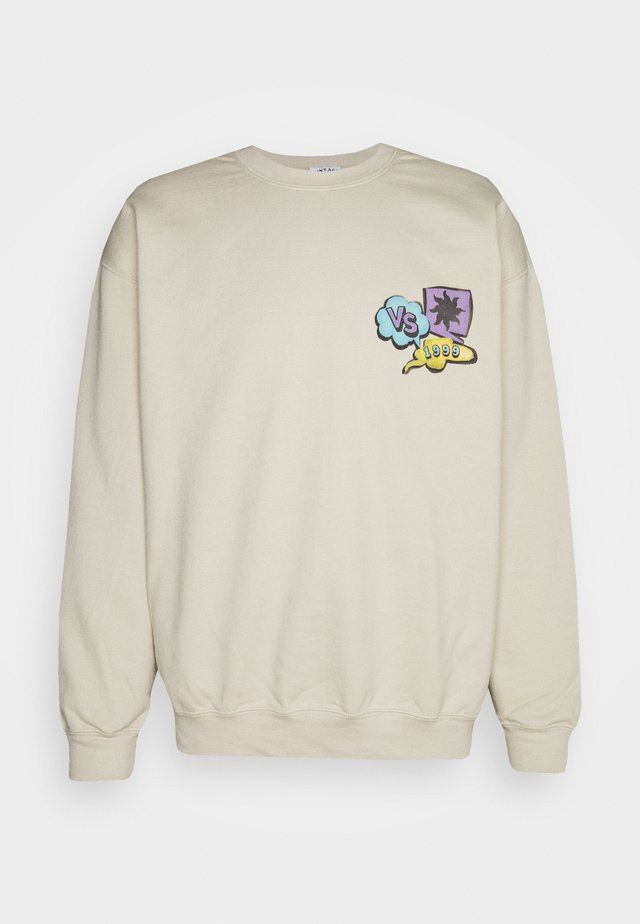 OLD SCHOOL CARTOON FRONT AND BACK GRAPHIC - Sweatshirt - sand