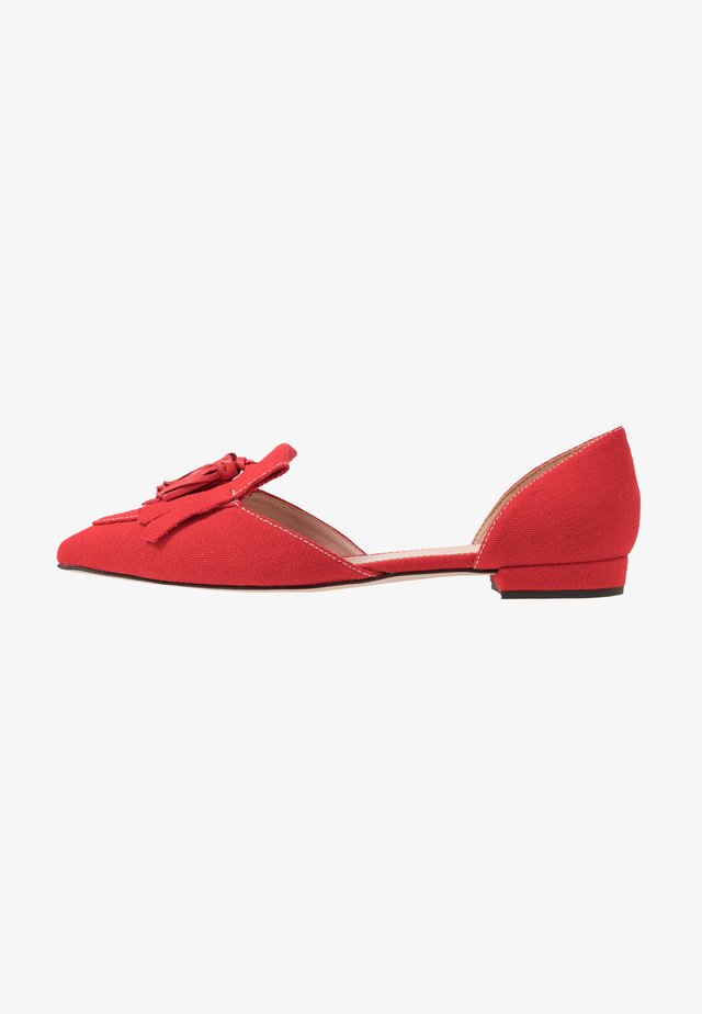 HARLECH FLAT - Ballerine - authentic red