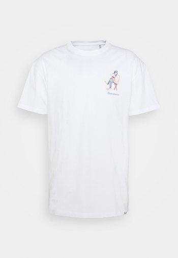 STAY OFFLINE - Print T-shirt - white