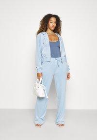 Juicy Couture - NUMERAL HOODIE - Zip-up sweatshirt - powder blue - 4