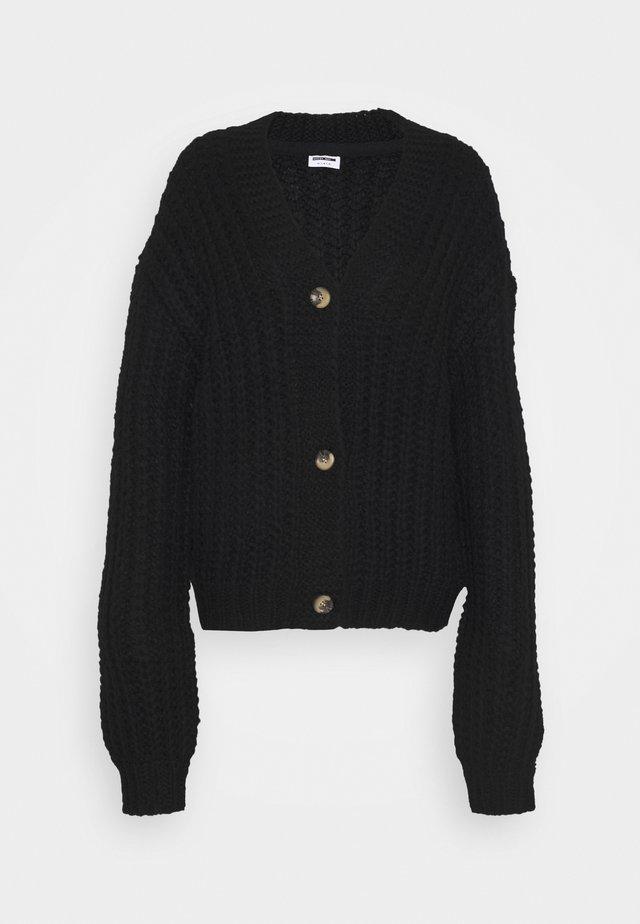 NMSTEVE CARDIGAN - Vest - black