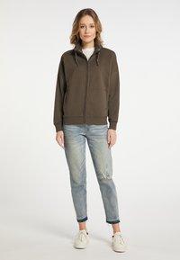 DreiMaster - Zip-up hoodie - militäroliv - 1