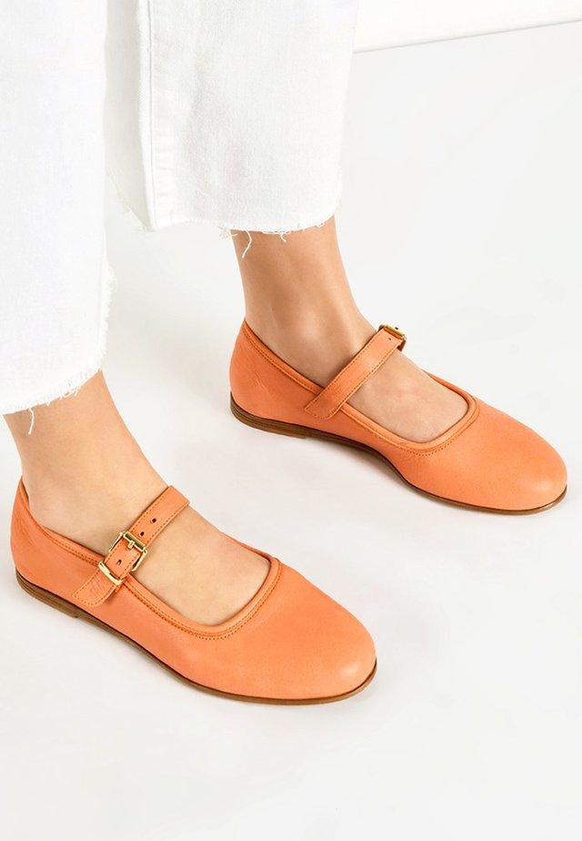 Ballerina's met enkelbandjes - orange org