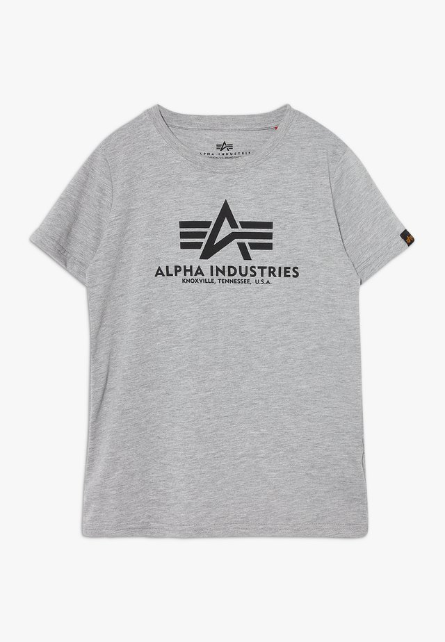 BASIC - Print T-shirt - grey heather
