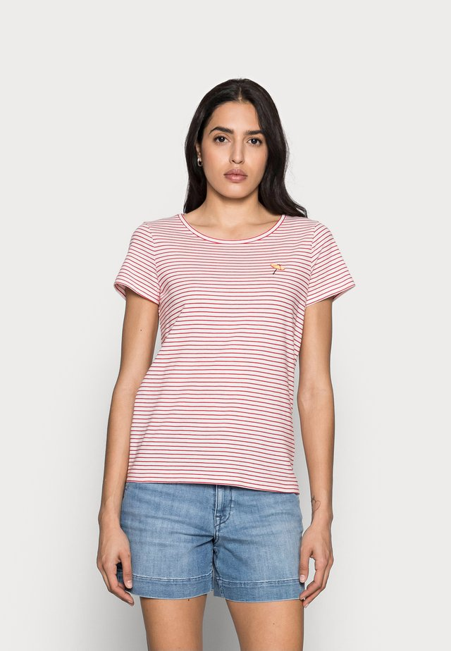 T-shirt print - offwhite/red