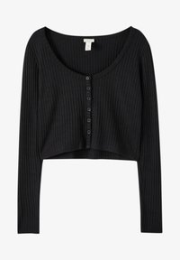 PULL&BEAR - Cardigan - mottled black - 4