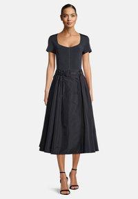Vera Mont - A-line skirt - dark navy - 1