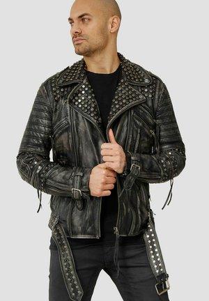 RAGNAR - Leather jacket - black