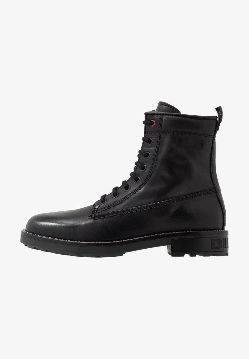 Diesel - D-THROUPER DBB Z - Šněrovací kotníkové boty - black