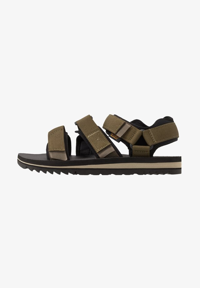 CROSS STRAP MENS - Walking sandals - dark olive