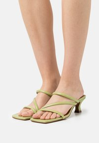 Chio - Heeled mules - green poncho - 0