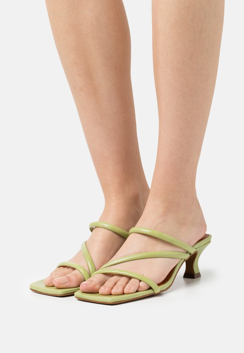 Chio - Heeled mules - green poncho