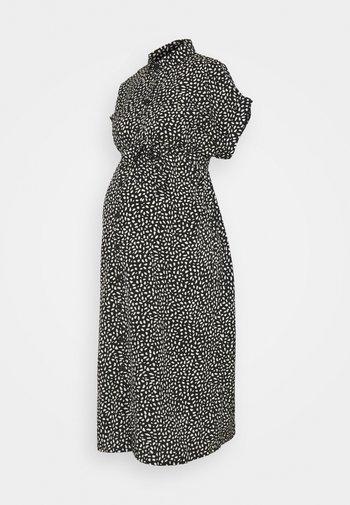 OLMHANNOVER DRESS - Sukienka koszulowa - black/cloud dancer graphic