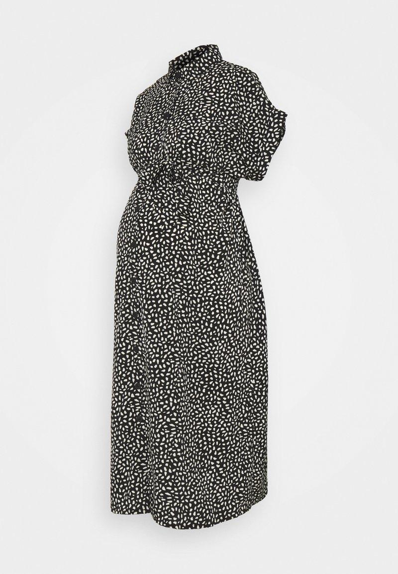 ONLY - OLMHANNOVER DRESS - Shirt dress - black/cloud dancer graphic